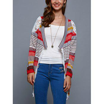 Colorful Print Thin Cardigan - COLORMIX M