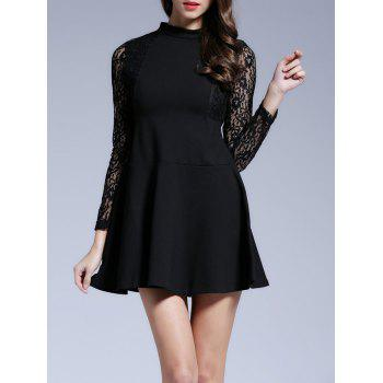 Long Sleeves Lace See-Through Dress