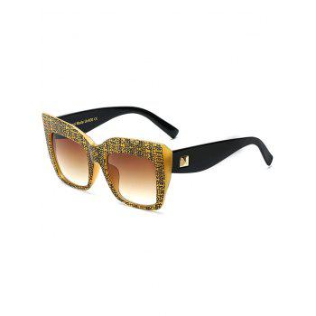 High Quality Rivet Bark Square Oversized Sunglasses