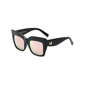 High Quality Rivet Mirrored Square Oversized Sunglasses