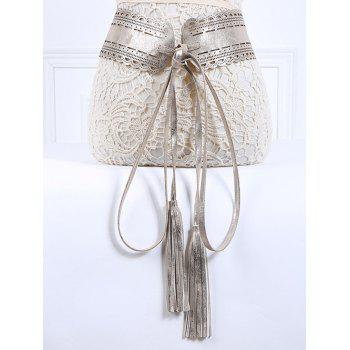 Popular Long Tassel Pendant Lace-Up PU Belt
