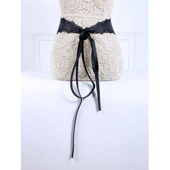 Popular Lace-Up Cut Out PU Belt