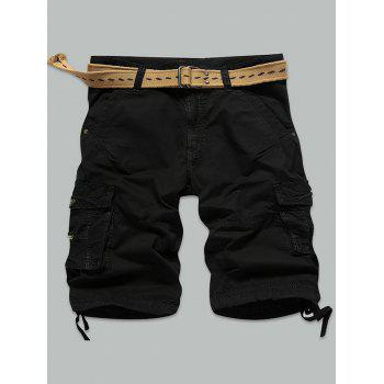 Muti-Pocket Zipper Fly Straight Cargo Shorts