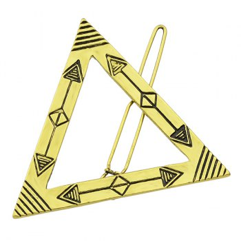 Engraved Arrow Triangle Adorn Hairpin