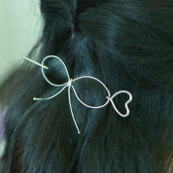 Bowknot Alloy Heart Hair Accessory