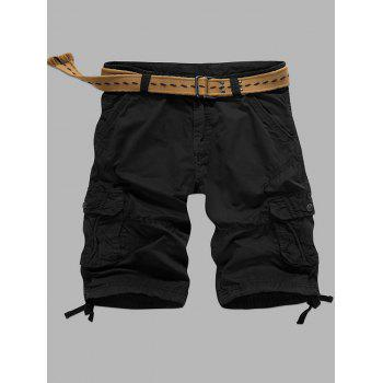 Straight Multi-Pocket Zipper Fly Cargo Shorts