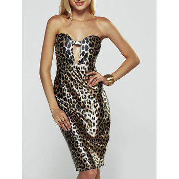 Strapless Print Tube Bodycon Dress
