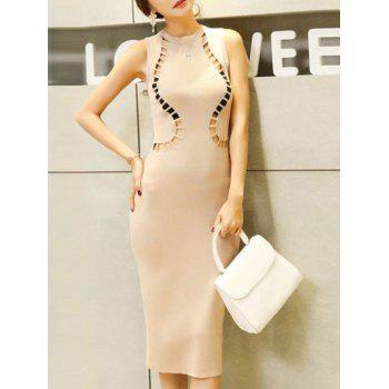 Hollow Out Knitted Bodycon Dress