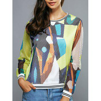Colorful Mesh Blouse