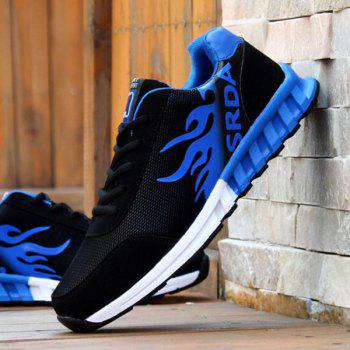 Tie Up Colour Block Breathable Athletic Shoes