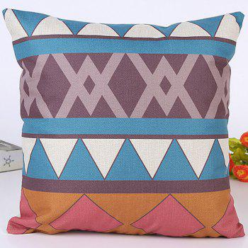 Sofa Car Cushion Geometry Jointing Stripe Design Pillow Case