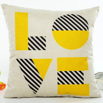 Geometry Stripe Love Letter Pattern Home Decor Sofa Pillow Case