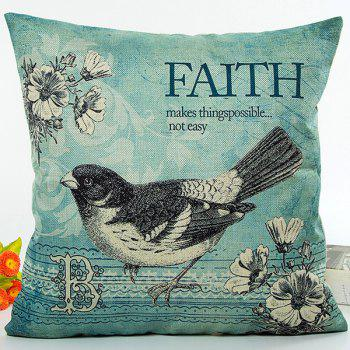 Flower Bird Faith Proverb Digital Printing Pillow Case