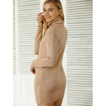 Côtelé uni Sweater Dress - ROSE PÂLE ONE SIZE
