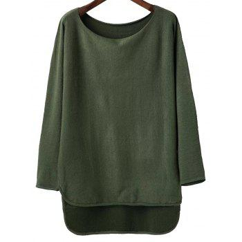 Scoop Neck High Low Knitwear