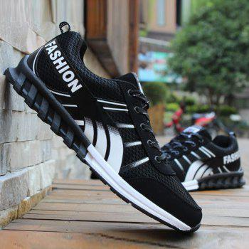 Lace-Up Color Block Letter Pattern Athletic Shoes