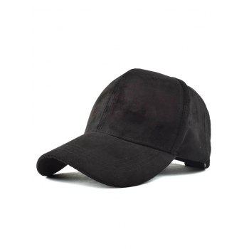 Casual Graffiti Embroidery Faux Suede Baseball Hat