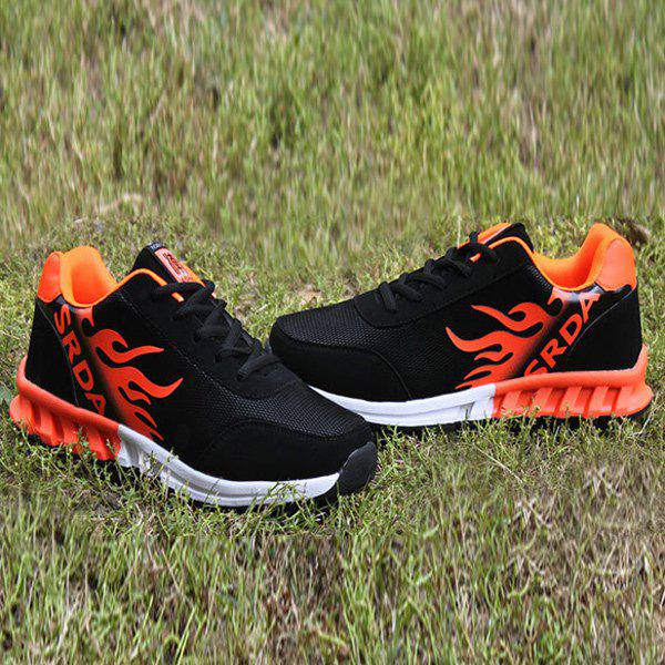 2018 tie up couleur bloc chaussures respirantes noir et orange in chaussures de sport online. Black Bedroom Furniture Sets. Home Design Ideas