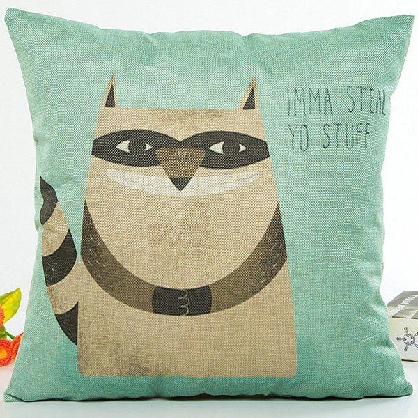 Cartoon Mole Animal Letter Design Sofa Pillow CaseHome<br><br><br>Color: GREEN