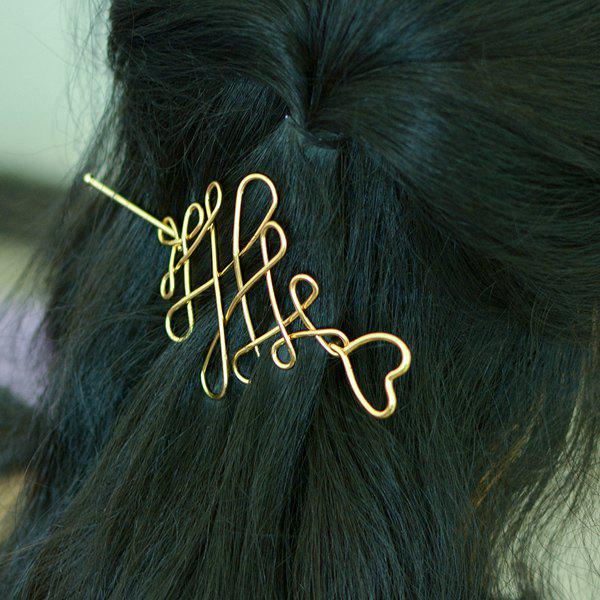 Knot Coeur chinois Accessoire cheveux - Or