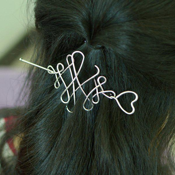 Heart Chinese Knot Hair Accessory