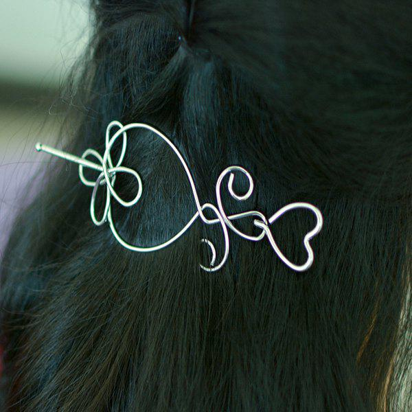 Hollow Out Alloy Heart Hair Accessory