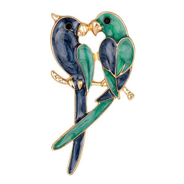 Kissing Birds Enamel Brooch nikolai bashilov kissing iskina