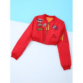 Appliques Embroidery Long Sleeve Jacket