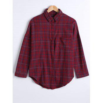 Checkered Pattern Pocket Design Shirt