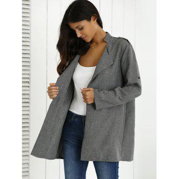 Hemming Sleeves Heather Shoulder Mark Coat