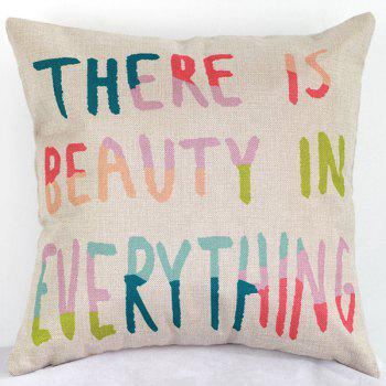 Beauty In Everything Letters Decorative Sofa Bed Pillow Case