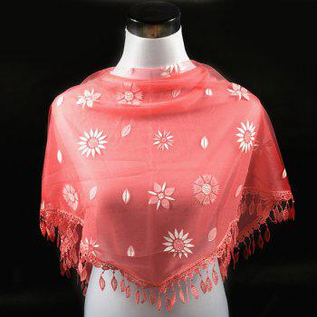 Banquet Embroidery Pendant Flower Pattern Triangle Lace Scarf