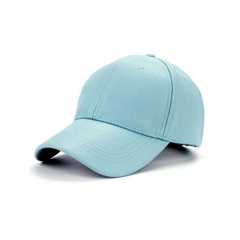 Casual Smooth Faux Leather Baseball Hat