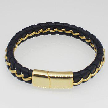Faux Leather Braided Wide Bracelet