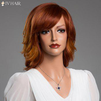 Stunning Side Side Bang Layered Fluffy Siv Real Perruque de cheveux naturels - multicolorcolore