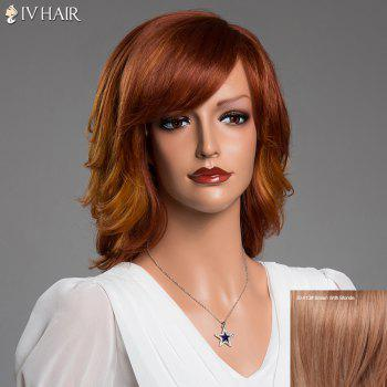 Stunning Medium Side Bang Layered Fluffy Siv Real Natural Hair Wig