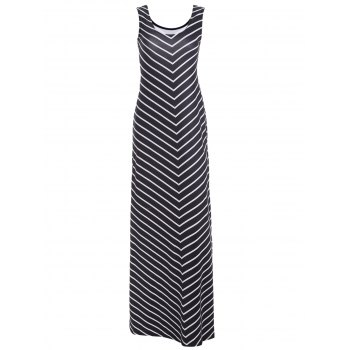 Zigzag Sleeveless Maxi Dress