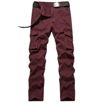Plus Size Button Flap Pocket Design Zipper Fly Cargo Pants