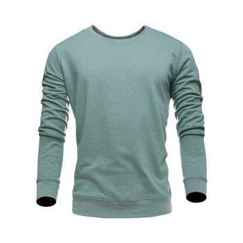 Long Sleeves Round Neck Plain Sweatshirt