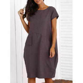 Casual Scoop Neck Loose-Fitting Midi Dress
