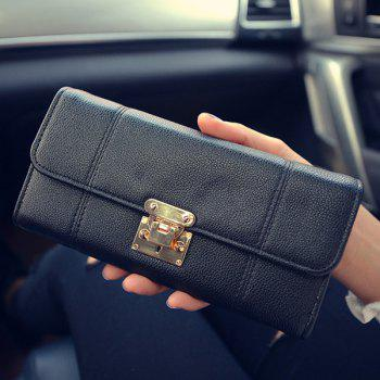 PU Leather Metal Stitching Wallet