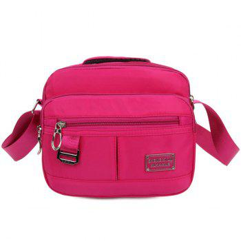 Nylon Zipper Metal Crossbody Bag