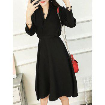 Tied-Up Surplice Dress