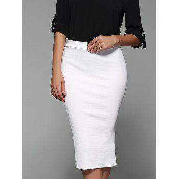 High Waist Sheathy Midi Skirt