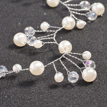 Faux Crystal Pearl Accessoire cheveux - Blanc
