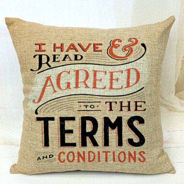 Letters Decorative Sofa Bed Pillow CaseHome<br><br><br>Color: COLORMIX