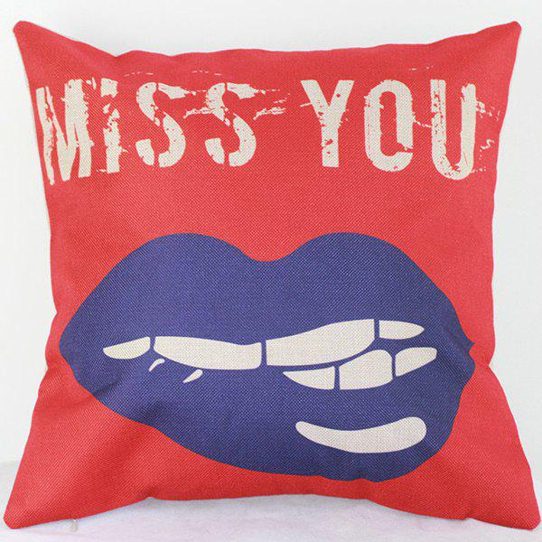 Miss You Letters Decorative Sofa Bed Pillow Case butterfly print sofa decorative pillow cover