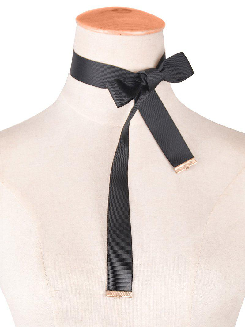Alloy Velvet Bowknot Choker Necklace cloth bowknot choker necklace