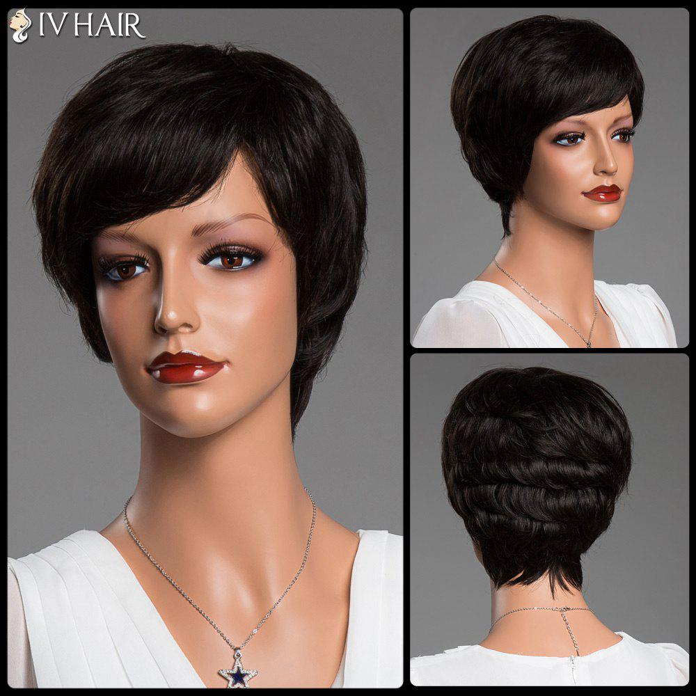 Stunning Short Fluffy Straight Side Bang Siv Real Natural Hair Wig трансформатор lundahl ll1936