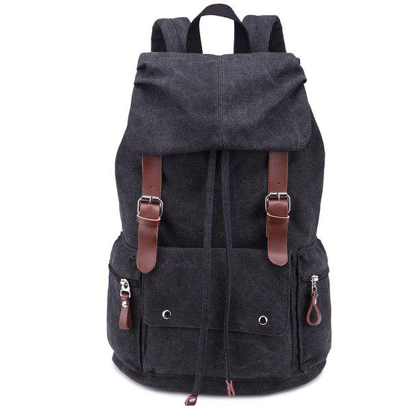 Drawstring Zippers Double Buckle Backpack double buckle glitter backpack